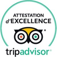 Attestation d'Excellence Tripadvisor 2016 – 2020